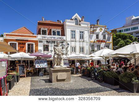 Cascais - August 14, 2019: Statue Of Luis De Camoes, The Greatest Portuguese Language Poet Remembere