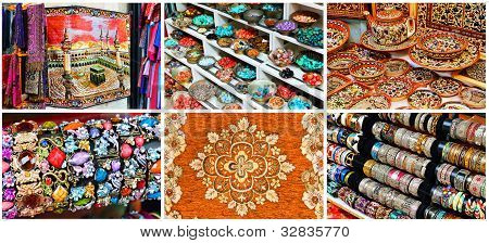 Goods From Oriental Markets Collage