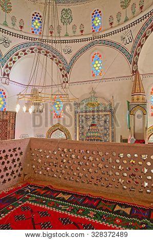 Mostar, Bosnia And Herzegovina - September 20, 2019: The Colorful Prayer Room Of  Koski Mehmed Pasha