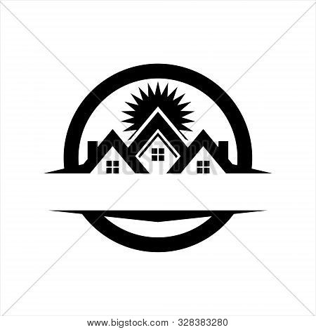 Home Logo Icon Vector Isolated On White Background,