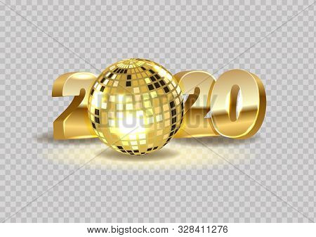2020 Happy New Year Of The Creative Design Horizontal Banner Background Or Greeting Card. Realistic