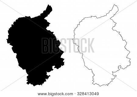 Bratislava Region (regions Of Slovakia, Slovak Republic) Map Vector Illustration, Scribble Sketch Br