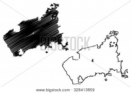 Fayetteville City (united States Cities, United States Of America, Usa City) Map Vector Illustration