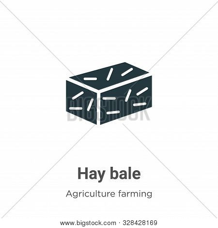 Hay bale icon isolated on white background from agriculture farming and gardening collection. Hay ba