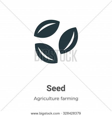 Seed icon isolated on white background from agriculture farming and gardening collection. Seed icon
