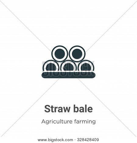 Straw bale icon isolated on white background from agriculture farming and gardening collection. Stra
