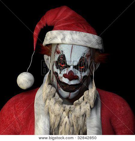 Scary Santa Clown
