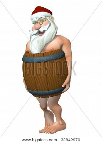 Santa In A Barrel