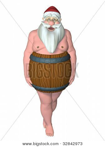 Santa In A Barrel