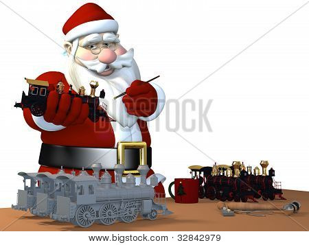 Santa Making Toys