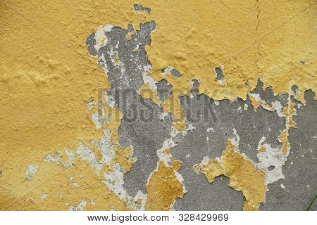 Old Wall Background And Vintage Peeling Paint