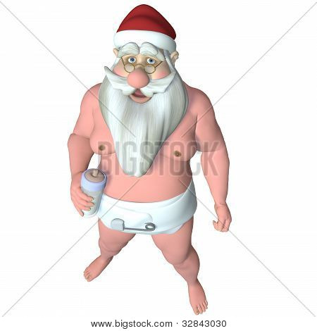 Santa Caught Wearing A Diaper
