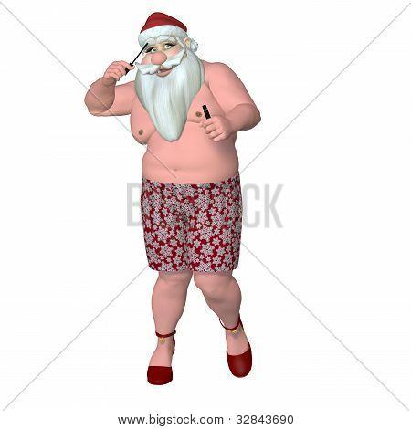 Santa Caught Putting On Makeup