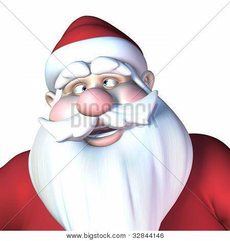 Santa With Crossed Eyes