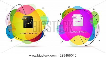 Color Svg File Document. Download Svg Button Icon Isolated On White Background. Svg File Symbol. Abs
