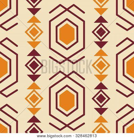 Tribal Southwestern Native American Navajo Seamless Pattern. Ethnic Fashion Aztec Ornament, Abstract