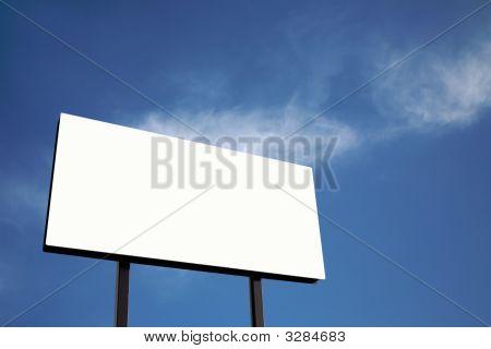White Billboard Against Blue Sky (Xl)