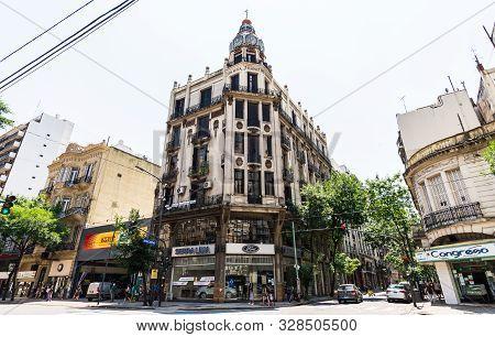 Buenos Aires, Argentina - February 1, 2018: Building By Eduardo Rodriguez Ortega