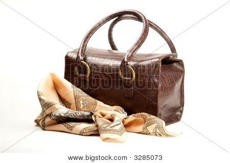 Brown Bag And Scarf