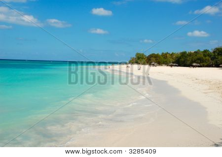 Beach at Playa Guardalava near Holguin - Cuba poster