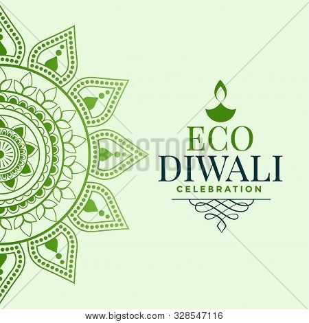 Happy Organic Diwali Festival Greeting Concept Design