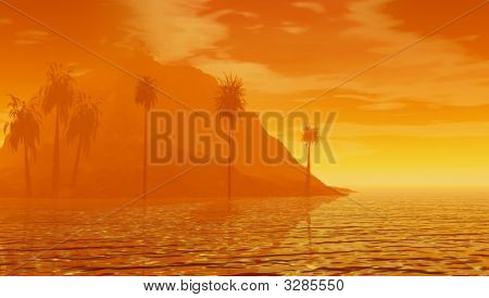 Sultry Island Sunset