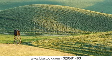 Hunting Lookout In The Fields, Turiec Region, Northern Slovakia.