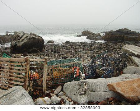 Lobster crates find trash