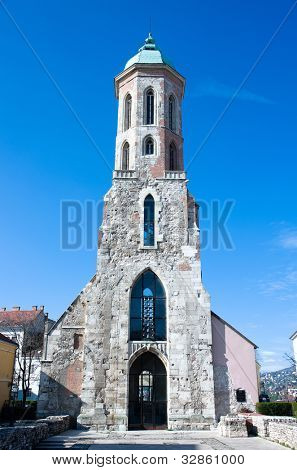 the tower of the Church of Mary Magdalene in Castle distric of Budapest