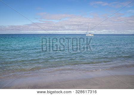 Beach And Boat  In Inisheer Island
