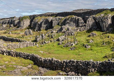 Rock Walls In A Farm In Inisheer Island