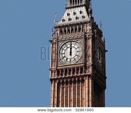The clock's striking 12