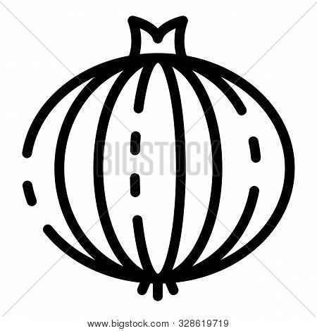 Onion Icon. Outline Onion Vector Icon For Web Design Isolated On White Background