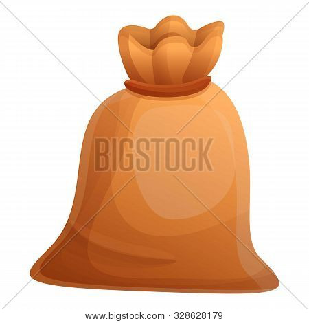 Knotted Sack Icon. Cartoon Of Knotted Sack Vector Icon For Web Design Isolated On White Background