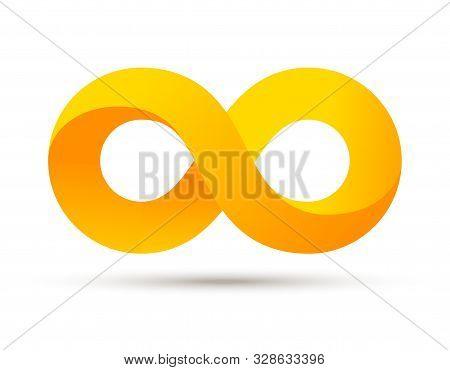 Infinity Logo Symbol Vector Sign. Infinite Loop Icon Endless Eternity Element