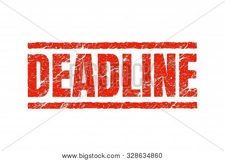 Deadline Stamp. Approaching Seal Overdue Stamp Icon. Deadline Red Badge