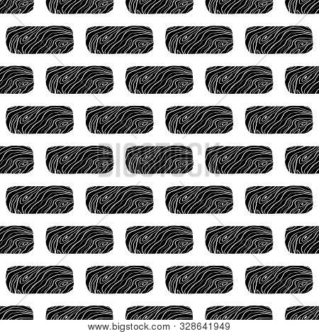 Abstract Black Brick Vector Background. Texture Vector Black Brick Wall. Black Brick Vector Wall.  V