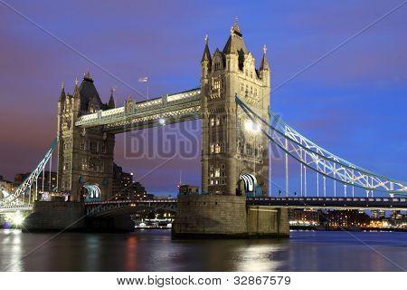 Tower Bridge,  London at Night.
