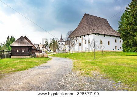 A Walk Through Traditional Village Pribylina In Liptov Region (slovakia)