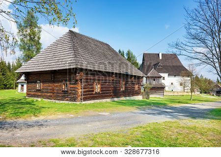 Old Traditional Houses Of Village Pribylina In Liptov Region (slovakia)