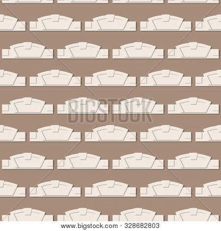 Seamless Pattern With Decorative Belt With Architectural Details. Decoration Of The Wall Fragment. V