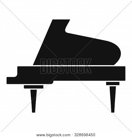 Grand Piano Instrument Icon. Simple Illustration Of Grand Piano Instrument Vector Icon For Web Desig