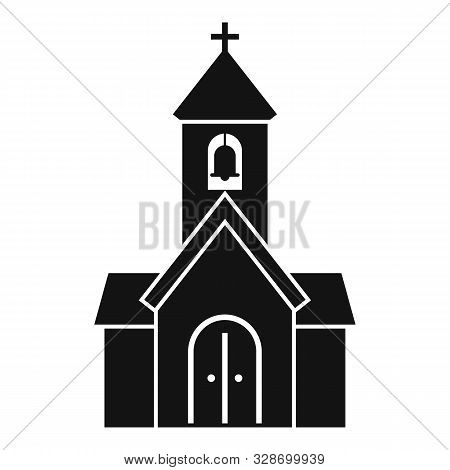 City Chapel Icon. Simple Illustration Of City Chapel Vector Icon For Web Design Isolated On White Ba