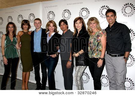 LOS ANGELES - MAY 9:  K Alfonso, L Rinna, C Massey, D Hall, B Dattilo, L Koslow, A Sweeney,  G Gering arrive at
