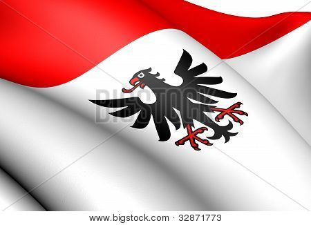 Flag of Aarau Switzerland. Close Up. Front View. poster
