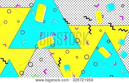 Ultramarine Ornament. Grunge Poster. Stripes Lemon Pattern. Liquid Artwork. Geometric Blue Compositi