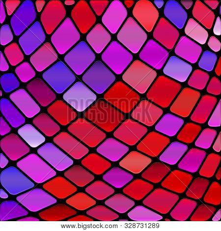 Abstract Vector Stained-glass Mosaic Background - Red And Violet