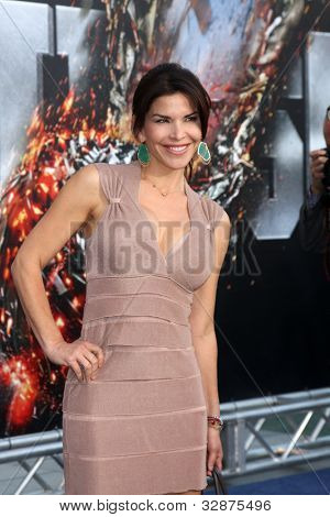 "LOS ANGELES - MAY 10:  Lauren Sanchez arrives at the ""Battleship"" LA Premiere at Nokia Theater  LA Live on May 10, 2012 in Los Angeles, CA"