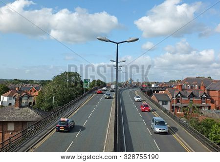 Chester, Cheshire, United Kingdom - 7 September 2019: Saint Martins Gate Along The Route Of Chester