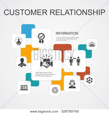 Customer Relationship Infographic 10 Line Icons Template.communication, Service, Crm, Customer Care